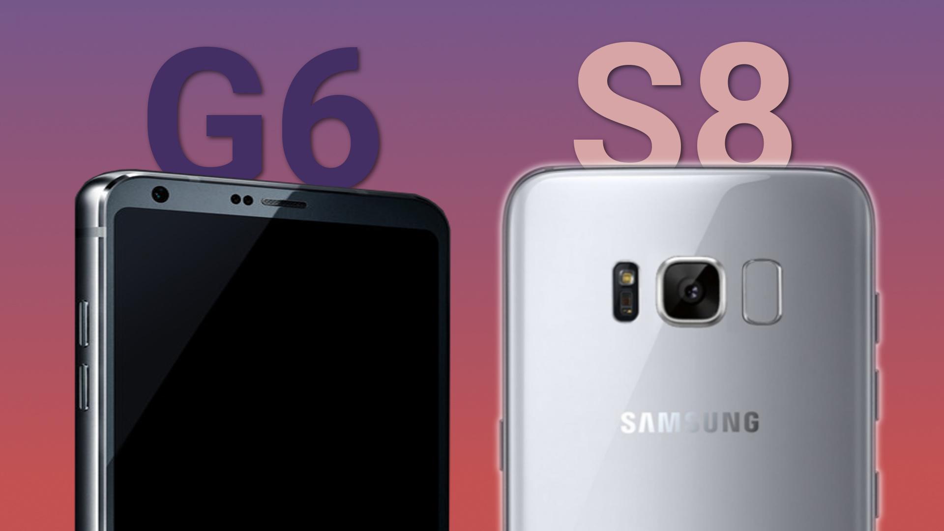 Samsung Galaxy S8 vs Lg G6 – diferente de design